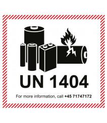 "Kundespecifikke UN ""Lithium batteries"" etiketter"
